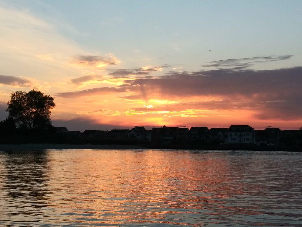 sunrise in the manasquan inlet