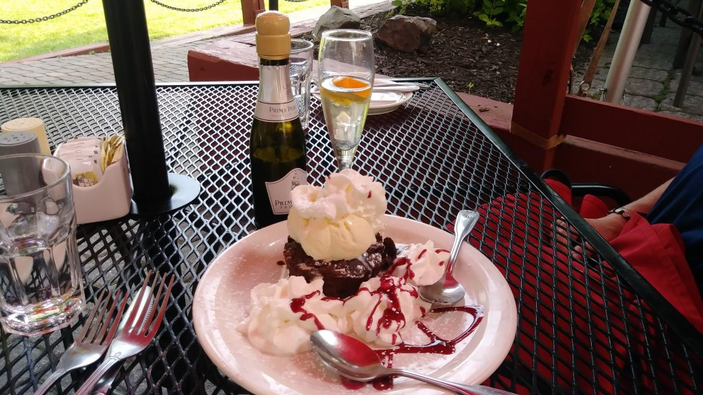 Lava Cake and Presecco