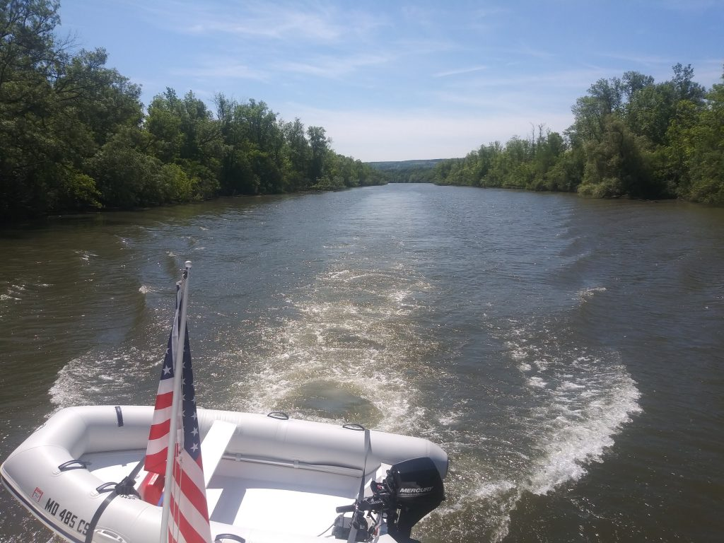 Heading down the Erie Canal